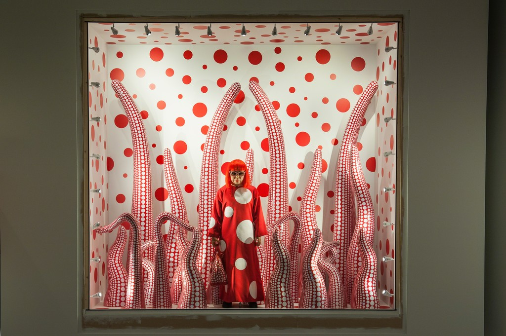 Installation view of YAYOI KUSAMA (2015). Louisiana Museum of Modern Art. Photo by Kim Hansen.