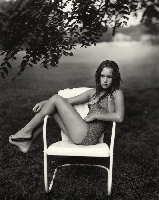 """Sally Mann, 'Untitled from the """"At Twelve"""" Series, Juliet in a White Chair', 1983-1985, Photography, Silver gelatin print, Jackson Fine Art"""