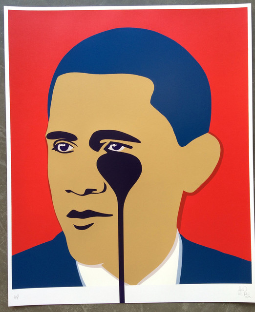 , 'Crying Obama (Red),' 2016, Reem Gallery
