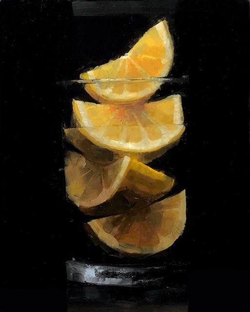 Tom Giesler, 'Floral 44: meyer lemon', 2021, Painting, Oil on panel, McVarish Gallery