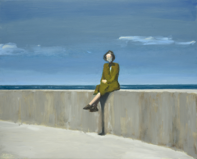, 'Woman Sitting on a Sea Wall,' , Castlegate House Gallery