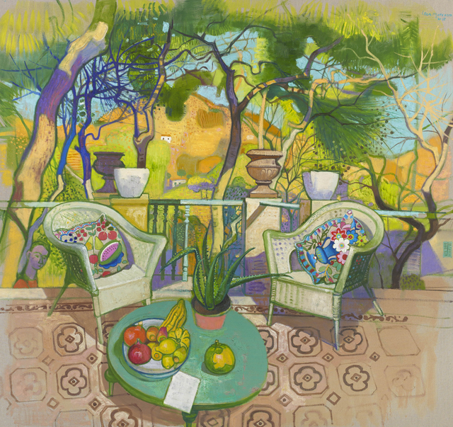 , 'Afternoon Sunshine on the Terrace, Syros,' 2018, John Martin Gallery