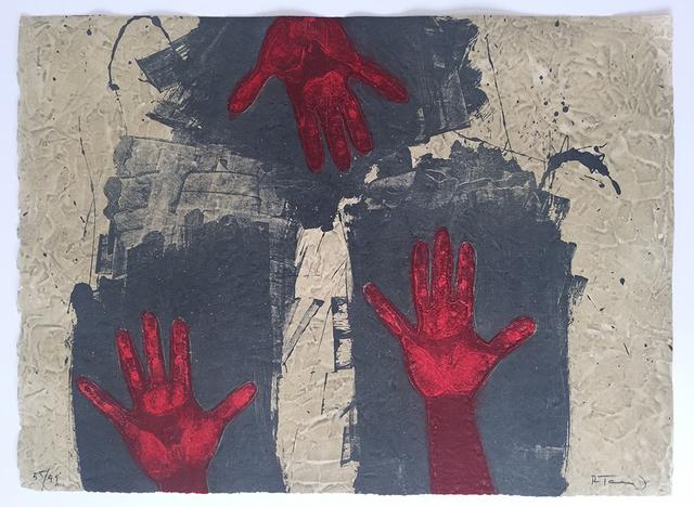 Rufino Tamayo, 'Manos Sobre Fondo Azul ', 1979, Vanessa Villegas Art Advisory