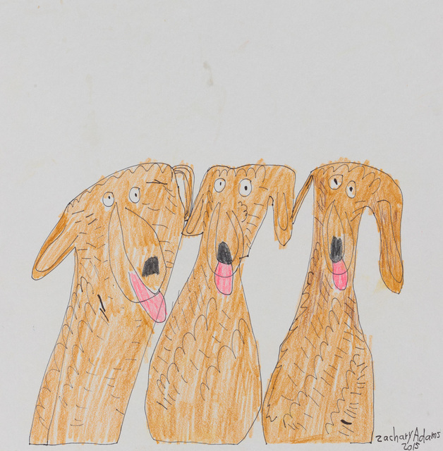 Zachary Adams, 'Untitled (Three Dogs)', 2015, Creativity Explored