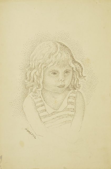 Marie Vorobieff Marevna, 'Portrait of a young girl, head and shoulders', c.1940, Roseberys