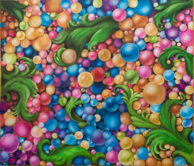 Ekaterina Nikidis, 'Alive', 2020, Painting, Acrylic on linen canvas, 23-carat gold leaf on borders, ARTBOX.GALLERY