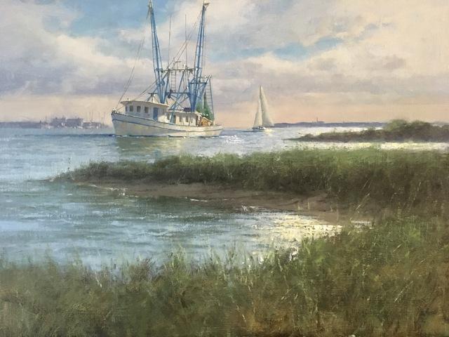Donald W. Demers, 'Shem Creek Shrimpin'', 2019, Helena Fox Fine Art