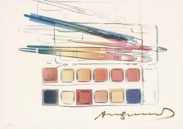 Andy Warhol, 'Watercolor Paint Kit With Brushes (Feldman & Schellmann II.288)', 1984, Sworders