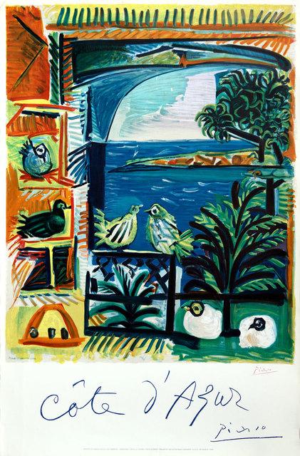 Pablo Picasso, 'Cote d 'Azur', 1957, Print, Lithograph, Goldmark Gallery