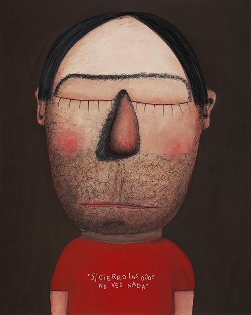 Moisés Yagües, 'If I Close My Eyes I Don't See Anything', 2021, Painting, Mixed media on paper, Galería Marita Segovia
