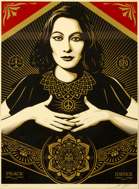 Shepard Fairey (OBEY), 'Peace & Justice', 2013, Chiswick Auctions