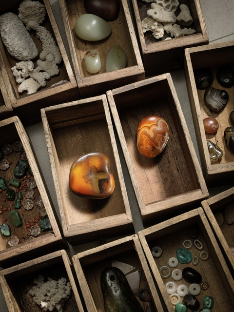 , 'A deep russet agate pebble「十」字瑪瑙卵石 | A mottled russet and creamy agate pebble 人物石景瑪瑙卵石 ,' , Rasti Chinese Art