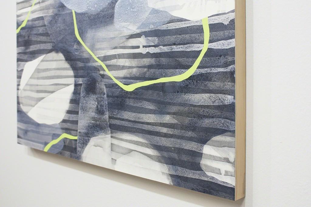 "Detail: Inaugural IV, 22""×30"", Sumi ink and acrylic on paper mounted on wood - Nishiki Sugawara-Beda -"