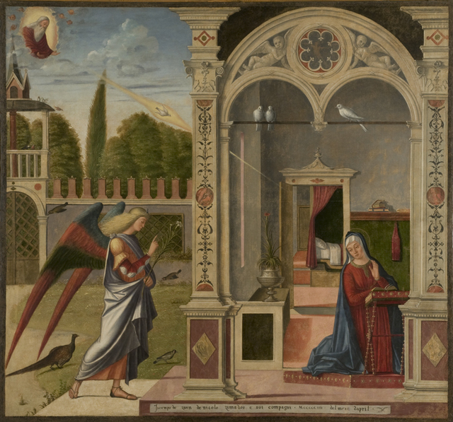 , 'Annunciation,' 1504, Denver Art Museum