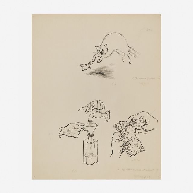 George Grosz, 'Three Illustrations for O. Henry, The Voice of the City and Other Stories', 1939, Artsy x Wright