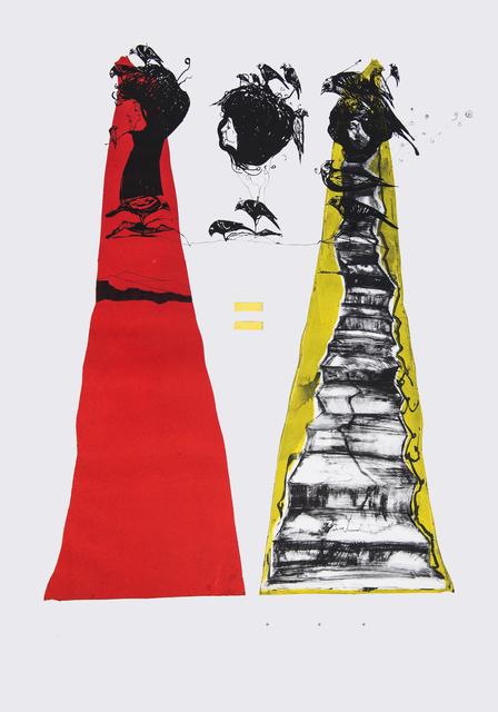 Frank David Valdés, 'Math', 2016, Painting, Mixed media on paper, ArteMorfosis - Cuban Art Platform