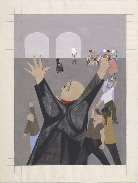 Jacob Lawrence, 'Protest Rally', ca. 1965, Colby College Museum of Art