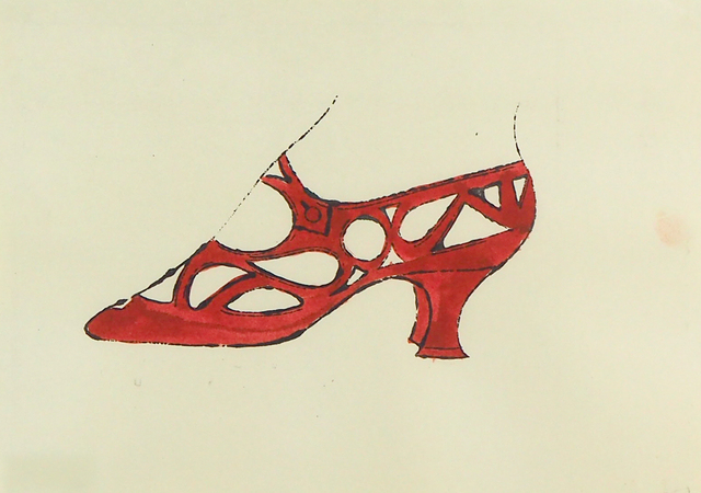 Andy Warhol, 'Shoe', 1958, Print, Hand-colored offset lithograph, McClain Gallery