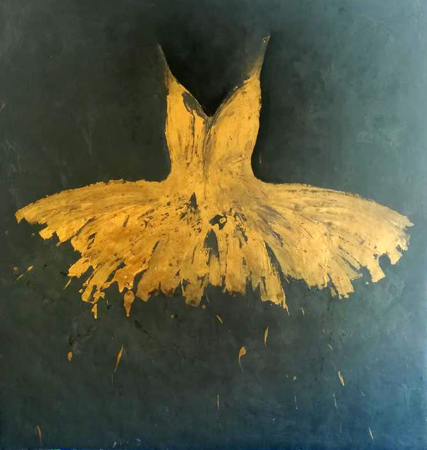 , 'Big Golden Opera Dress,' 2018, Galleria Ca' d'Oro