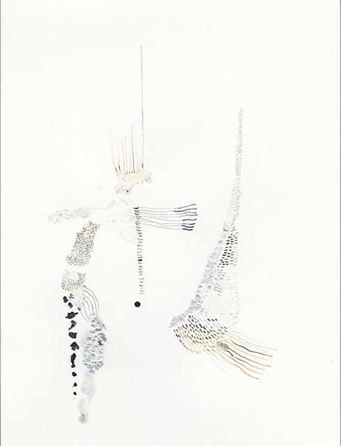 Daniela Busarello, 'Tempo Plonger III Esgoto 29/12/2018', 2018, Drawing, Collage or other Work on Paper, Papier Montval, Encre à base de gomme laque blanche, acrylique : brésil brun et gris de payne, graffiti, Mouvements Modernes