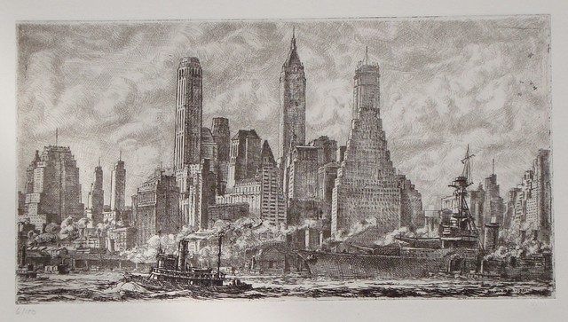 , 'Skyline from Pier 10 Brooklyn,' 1931, Childs Gallery