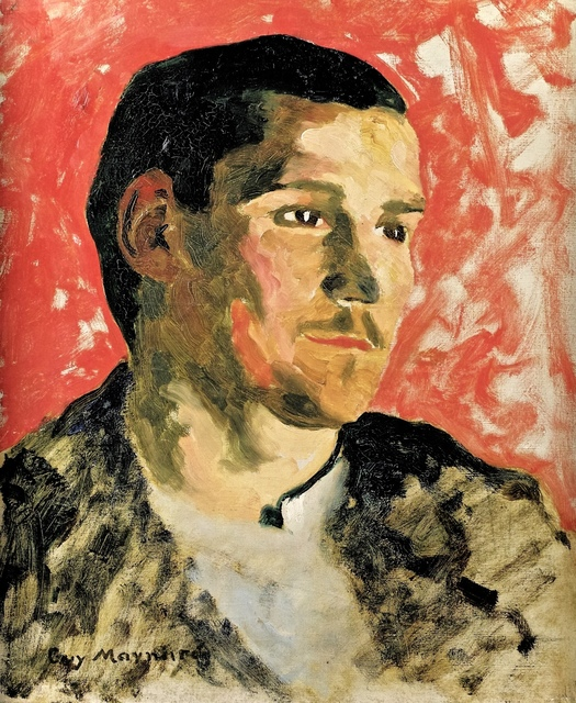 , 'Portrait of a young man in Profile on a Red Ground,' ca. 1891, Martin du Louvre