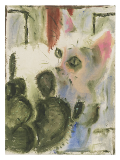 , 'Cat and cactus,' 2018, DITTRICH & SCHLECHTRIEM