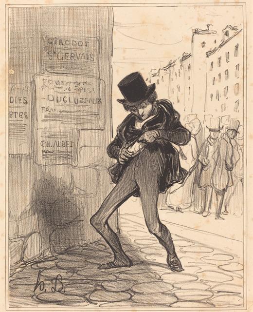 Honoré Daumier, 'Volé!... Rue vide-gousset...', 1839, National Gallery of Art, Washington, D.C.