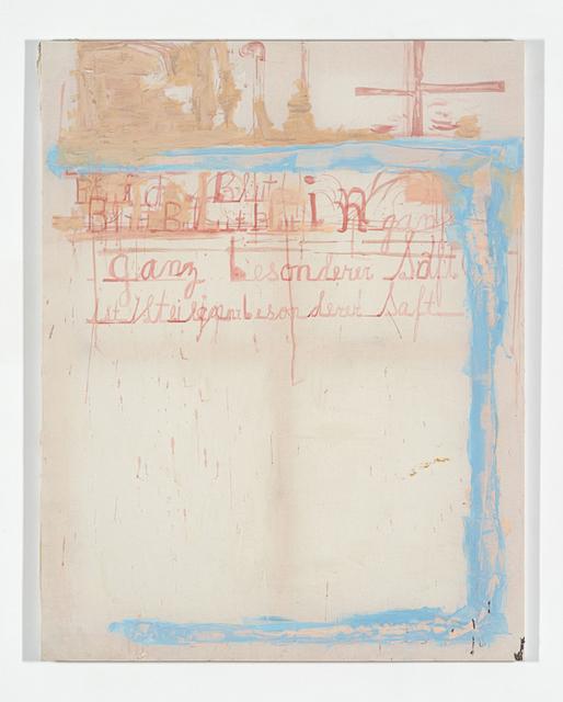 , 'Blut is ein ganz besonderen saft,' 2014, Anthony Reynolds Gallery