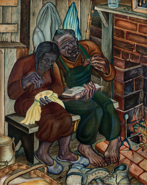 , 'Old Couple (aka Home Sweet Home),' 1944, Michael Rosenfeld Gallery