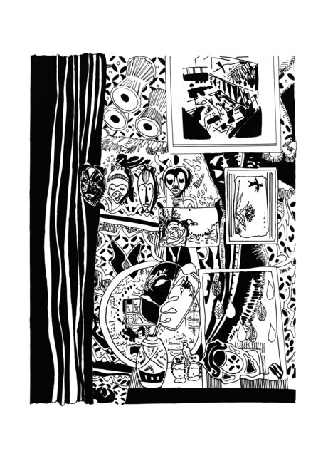 Chourouk Hriech, 'Objets #1', 2019, Drawing, Collage or other Work on Paper, Indian ink on paper, L'Atelier 21