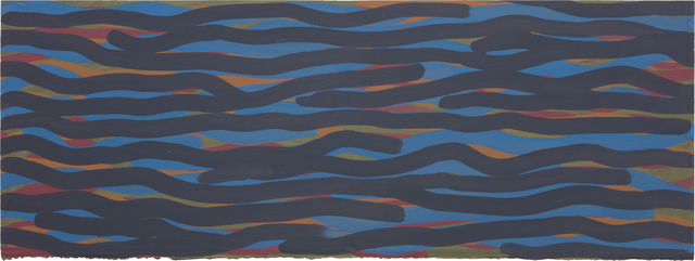 Sol LeWitt, 'Wavy Brushstrokes (blue, gold, red, green)', 2004, Phillips