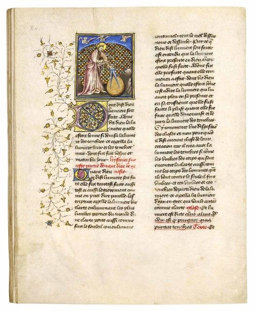 , 'Bible historiale, Genesis etc.,' ca. 1416, Dr. Jörn Günther Rare Books