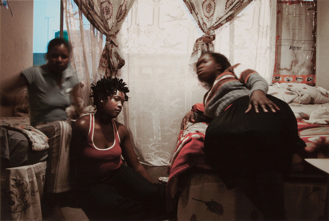 , 'Tshililo (right) and her friends share a one-roomed apartment in Cape Agulhas, Esselen Street, Hillbrow,' , Artthrob