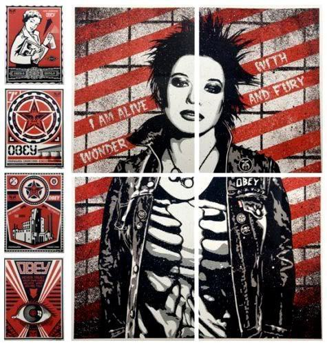 Shepard Fairey (OBEY), 'OBEY X LEVI'S® X TIMES SQUARE (Set of 4)', 2009, Rudolf Budja Gallery