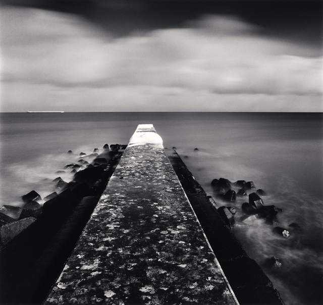 Michael Kenna, 'Snow on Pier, Memanbetsu, Hokkaido, Japan', 2009, Photography, Toned gelatin silver print, G. Gibson Gallery