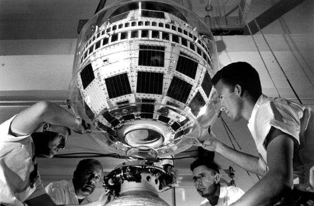 , 'Bell Labs Engineers working on Telstar 1,' 1961, New York Historical Society