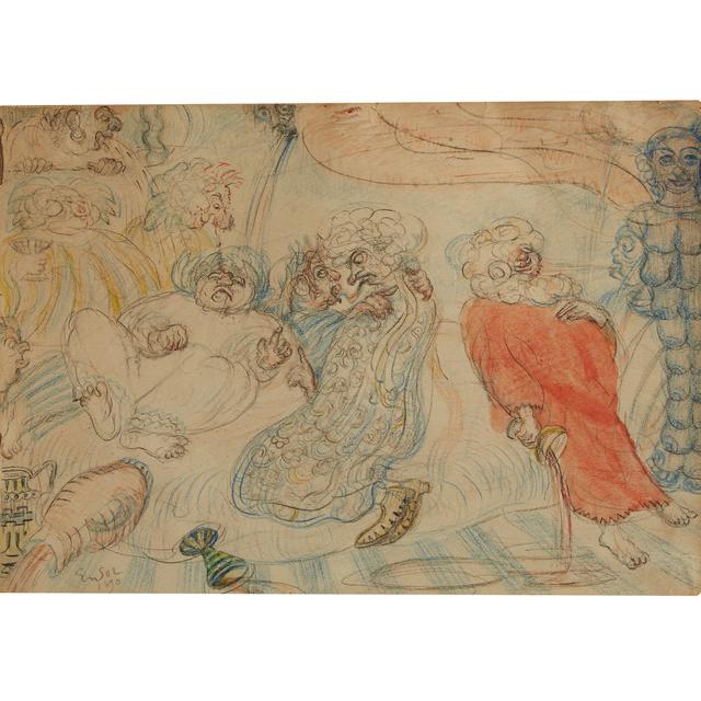 James Ensor, 'Les Romains De La Décadence', Freeman's