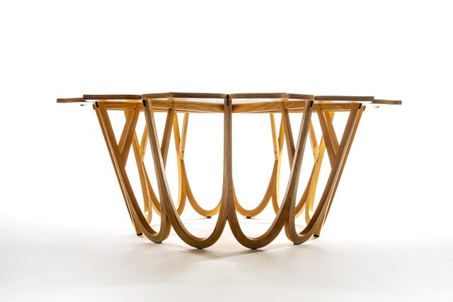 Michael Hurwitz, 'Twelve Leaf Resin Table', 2012, Design/Decorative Art, Ash, wenge, epoxy resin, Wexler Gallery