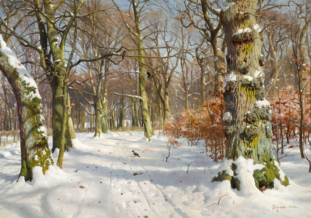 Peder Mork Monsted, 'In Charlottenlund Forest', 1908,  M.S. Rau Antiques