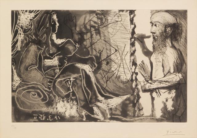 Pablo Picasso, 'Dans l'atelieur', 1965, Hindman
