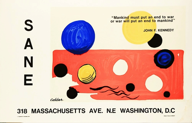 Alexander Calder, 'SANE Washington D.C. Exhibition Poster', 1975, Alpha 137 Gallery