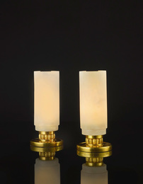 Émile Jacques Ruhlmann, 'Pair of Table Lamps, model 3307 NR,' circa 1933, Sotheby's: Important Design