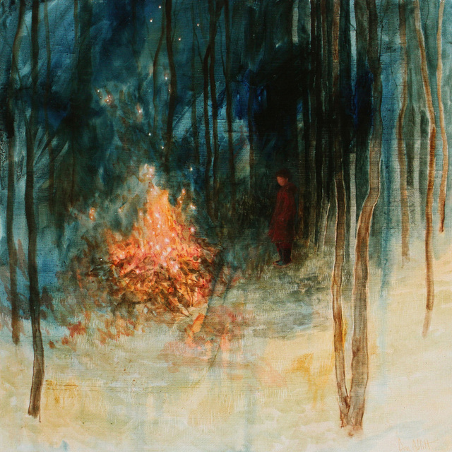 , 'By the Bonfire (Study),' 2018, Sarah Wiseman Gallery