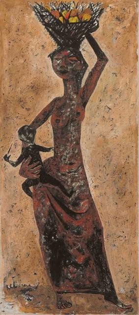 Krishen Khanna, 'Women with a Basket of Fruit', 1957, DAG