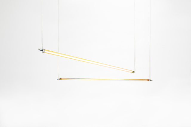 ", 'Ceiling lamps model ""Horizontal Long"",' 2017, Side Gallery"