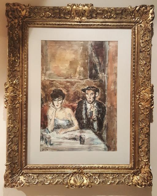 ", '""Dos personajes tomando cafe"",' , GALERÍAS A. CRISTOBAL"