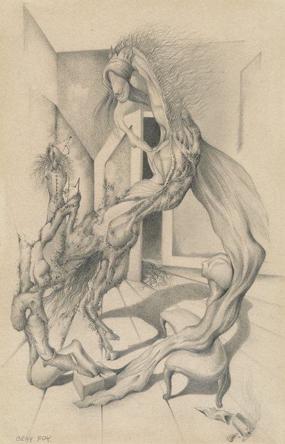 , 'Untitled [Interior with Morphing Figures and Animal],' ca. 1944, Francis M. Naumann Fine Art