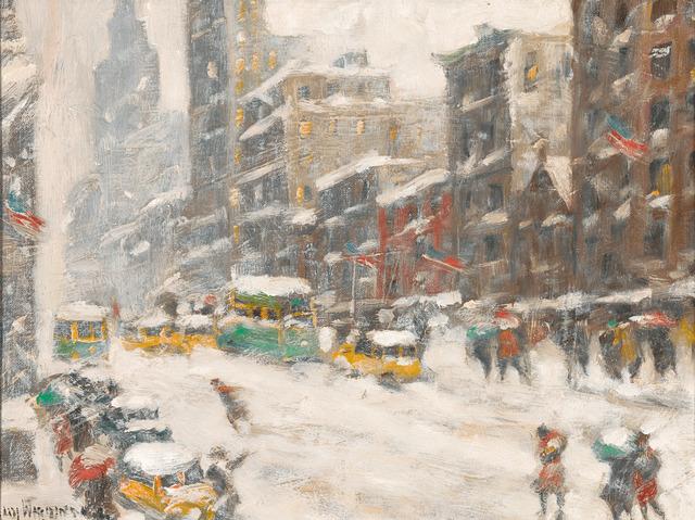Guy Carleton Wiggins, 'Winter in New York', 1950-1960,  M.S. Rau