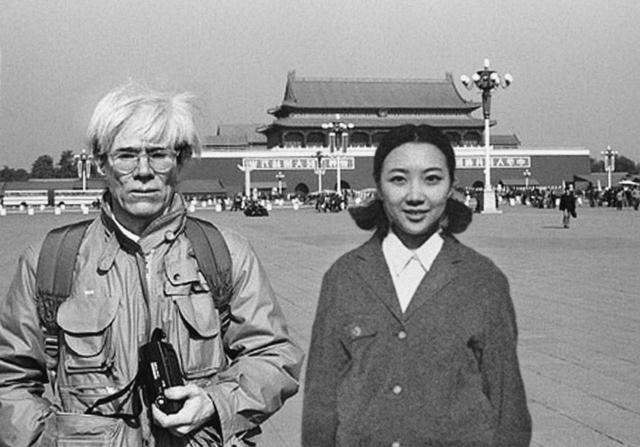 , 'Andy Warhol & Celine Liu I,' 2014, MO-Industries